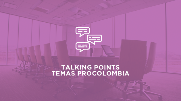 Talking points temas ProColombia